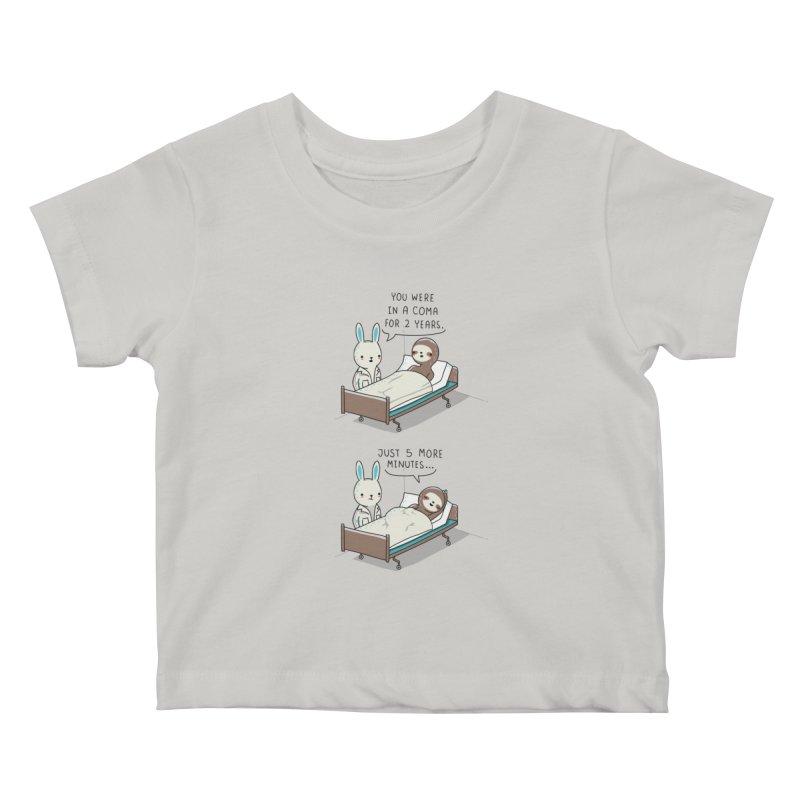 5 more minutes Kids Baby T-Shirt by wawawiwadesign's Artist Shop