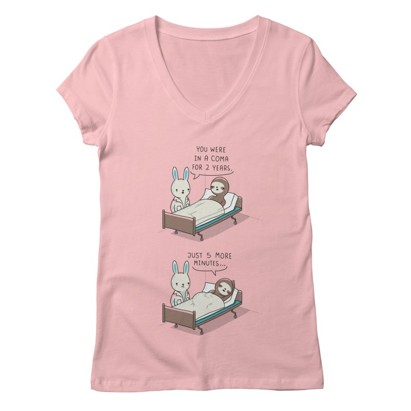 5 more minutes Women's V-Neck by wawawiwadesign's Artist Shop