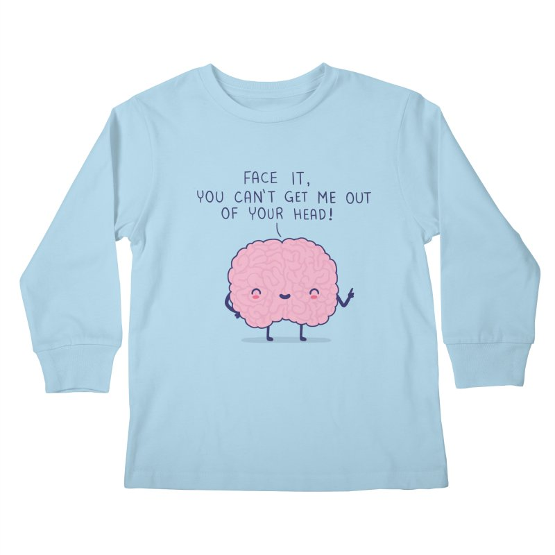 No-brainer Kids Longsleeve T-Shirt by wawawiwadesign's Artist Shop