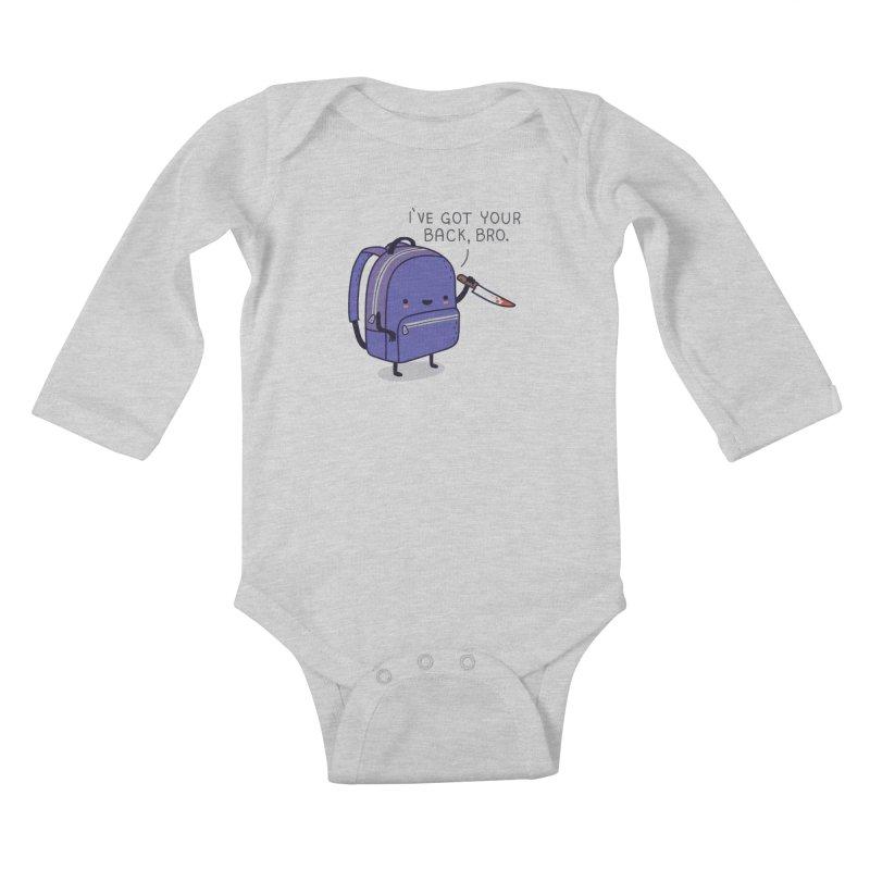 I got your back Kids Baby Longsleeve Bodysuit by wawawiwadesign's Artist Shop
