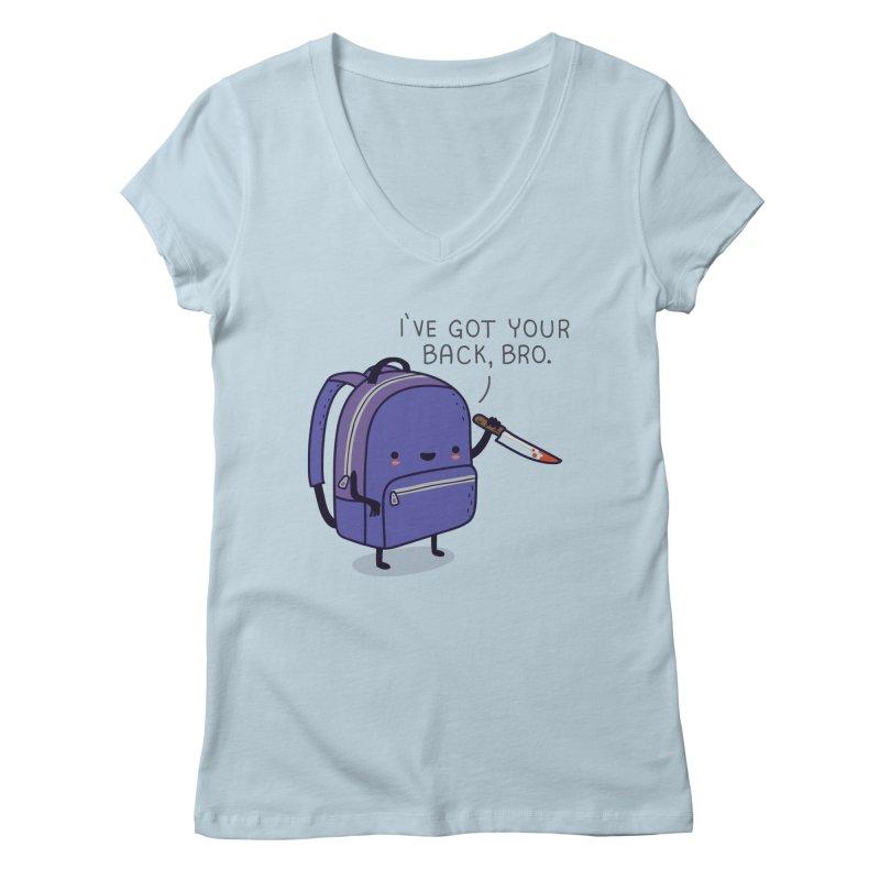 I got your back Women's V-Neck by wawawiwadesign's Artist Shop