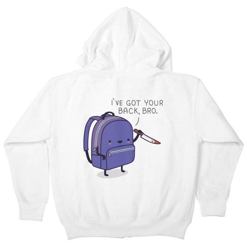 I got your back Kids Zip-Up Hoody by wawawiwadesign's Artist Shop