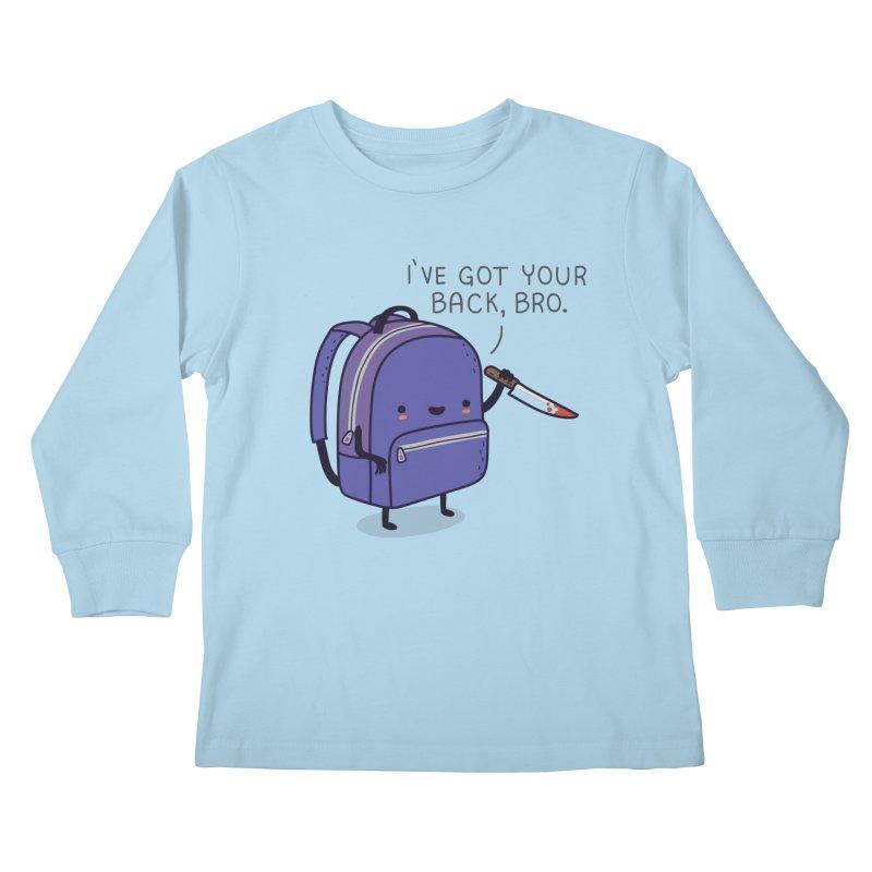 I got your back Kids Longsleeve T-Shirt by wawawiwadesign's Artist Shop
