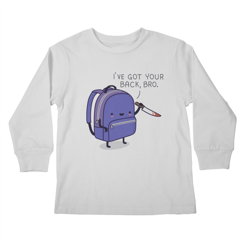 I got your back Kids Longsleeve T-Shirt by wawawiwadesign's Artist Shop
