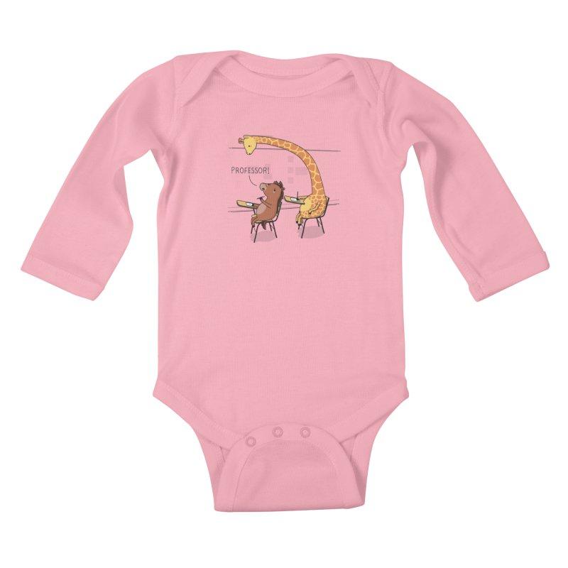 Professor! Kids Baby Longsleeve Bodysuit by wawawiwadesign's Artist Shop