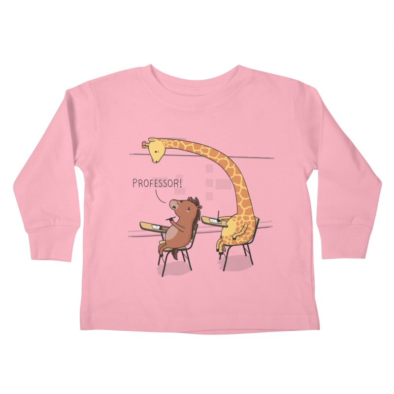 Professor! Kids Toddler Longsleeve T-Shirt by wawawiwadesign's Artist Shop