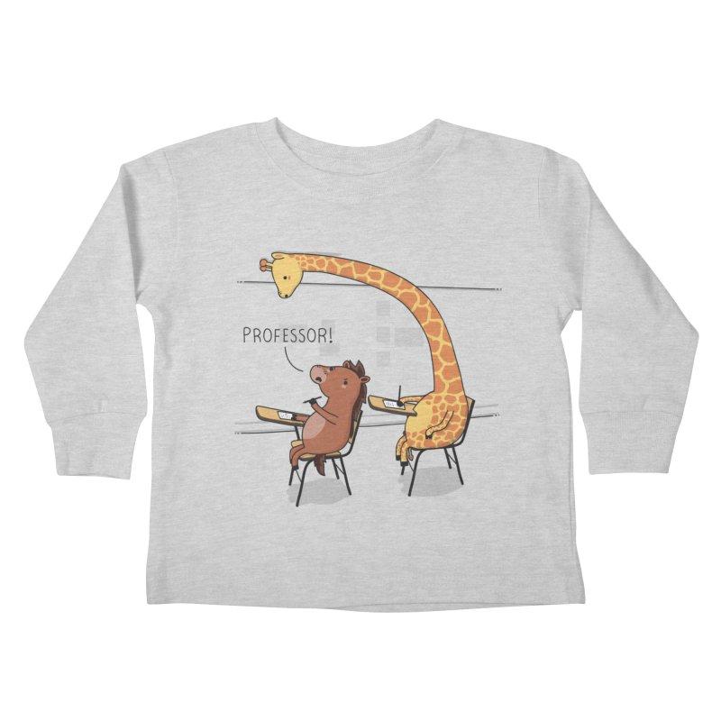 Professor! Kids Toddler Longsleeve T-Shirt by wawawiwadesign's Artist Shop