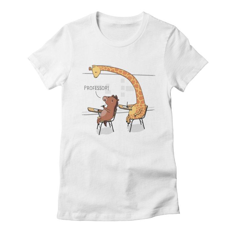 Professor! Women's Fitted T-Shirt by wawawiwadesign's Artist Shop