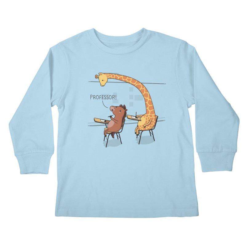 Professor! Kids Longsleeve T-Shirt by wawawiwadesign's Artist Shop