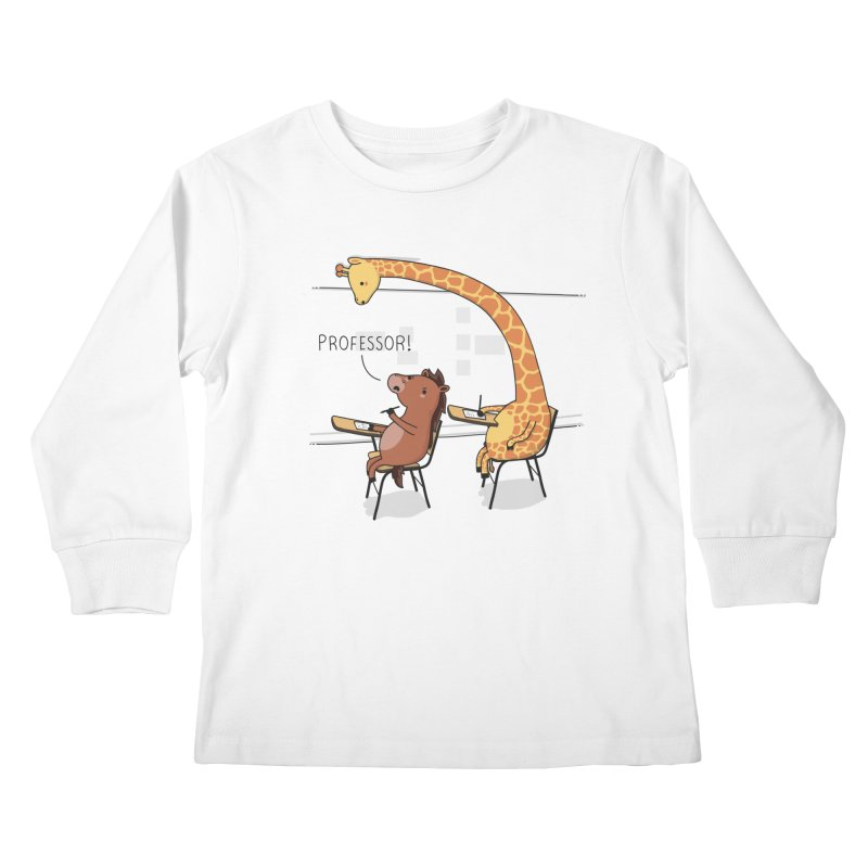 Professor! Kids Longsleeve T-Shirt by wawawiwadesign's Artist Shop
