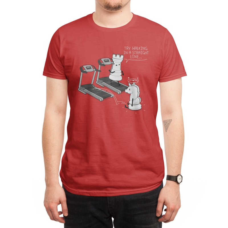 In a straight line Men's T-Shirt by wawawiwadesign's Artist Shop