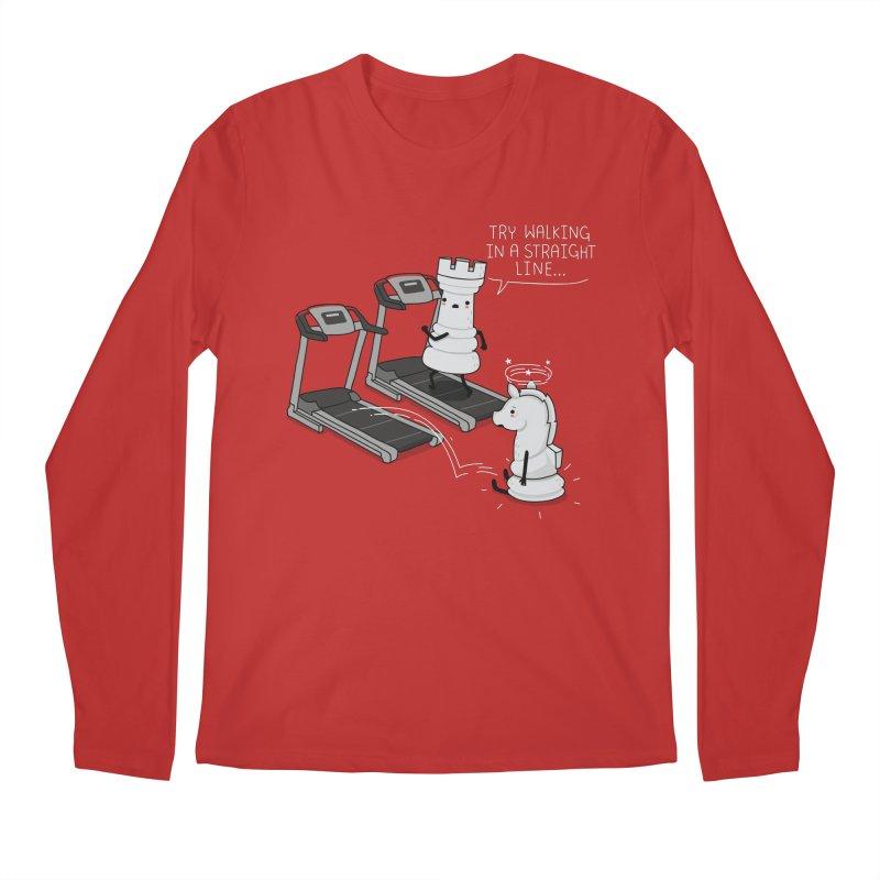 In a straight line Men's Longsleeve T-Shirt by wawawiwadesign's Artist Shop