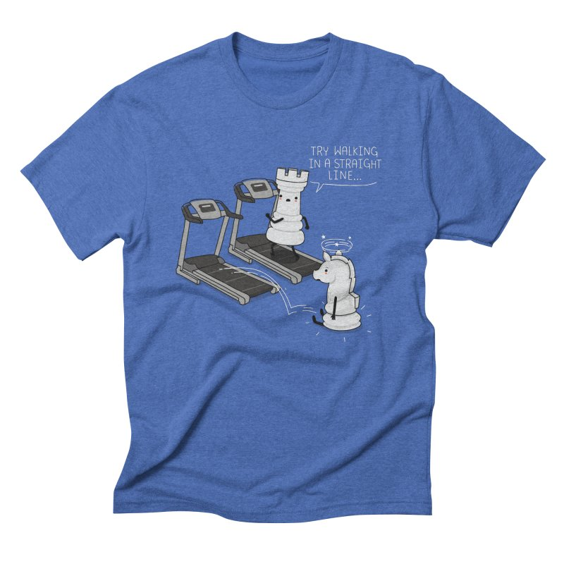 In a straight line Men's Triblend T-shirt by wawawiwadesign's Artist Shop
