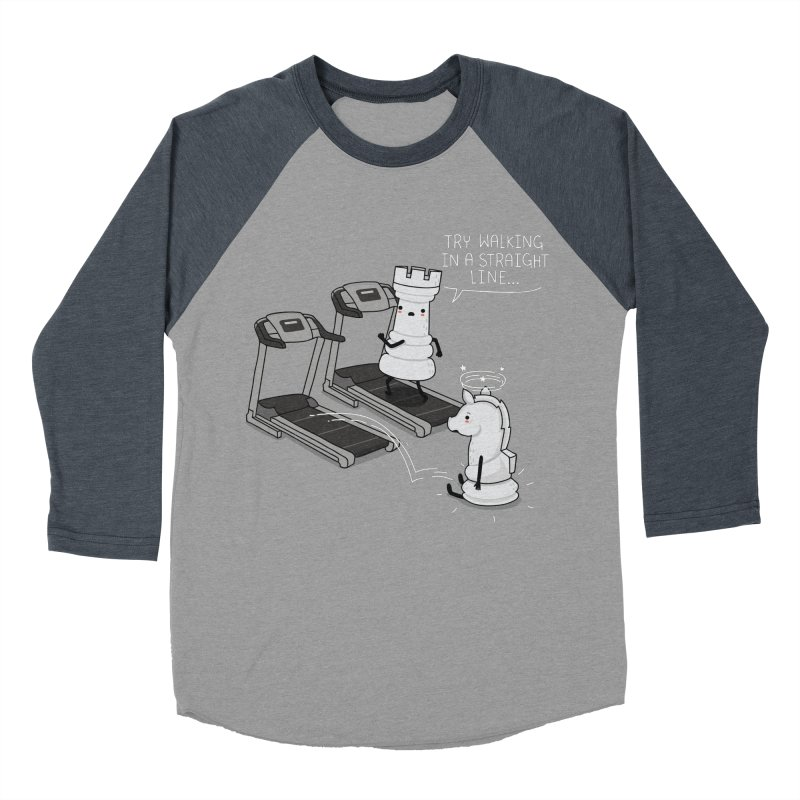 In a straight line Women's Baseball Triblend T-Shirt by wawawiwadesign's Artist Shop