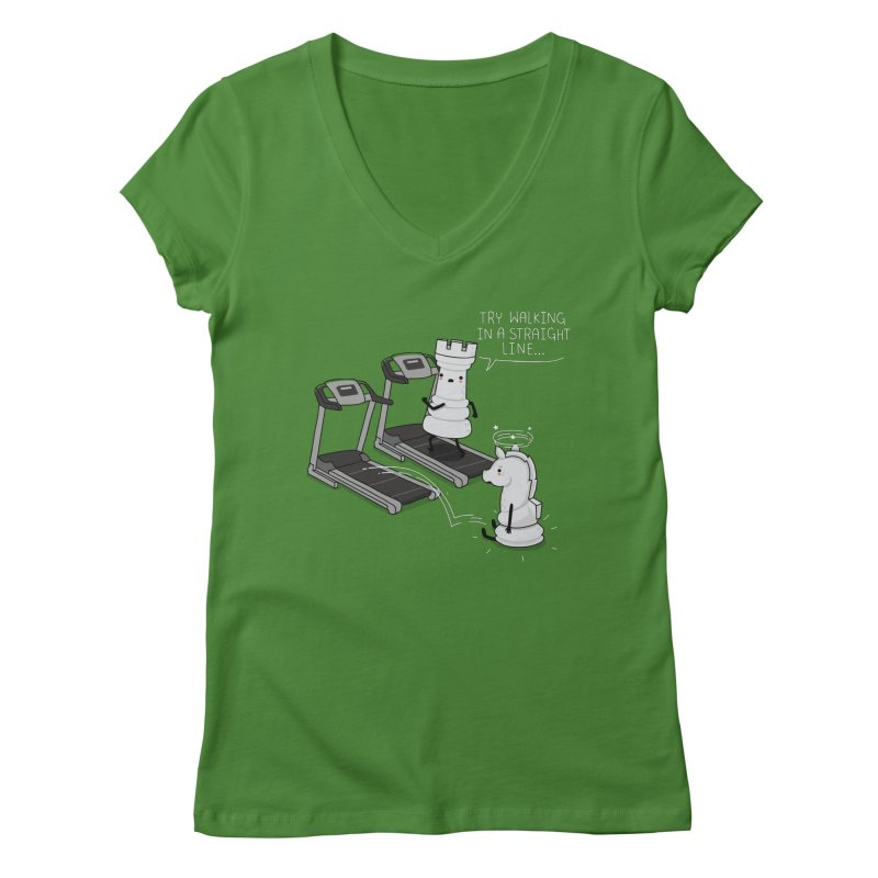 In a straight line Women's V-Neck by wawawiwadesign's Artist Shop