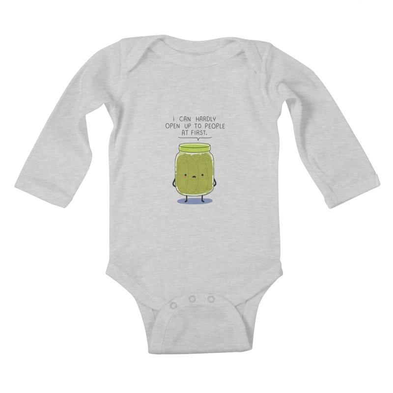 Introverted jar Kids Baby Longsleeve Bodysuit by wawawiwadesign's Artist Shop