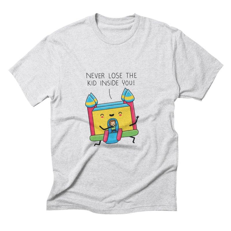 The kid inside you Men's Triblend T-shirt by wawawiwadesign's Artist Shop