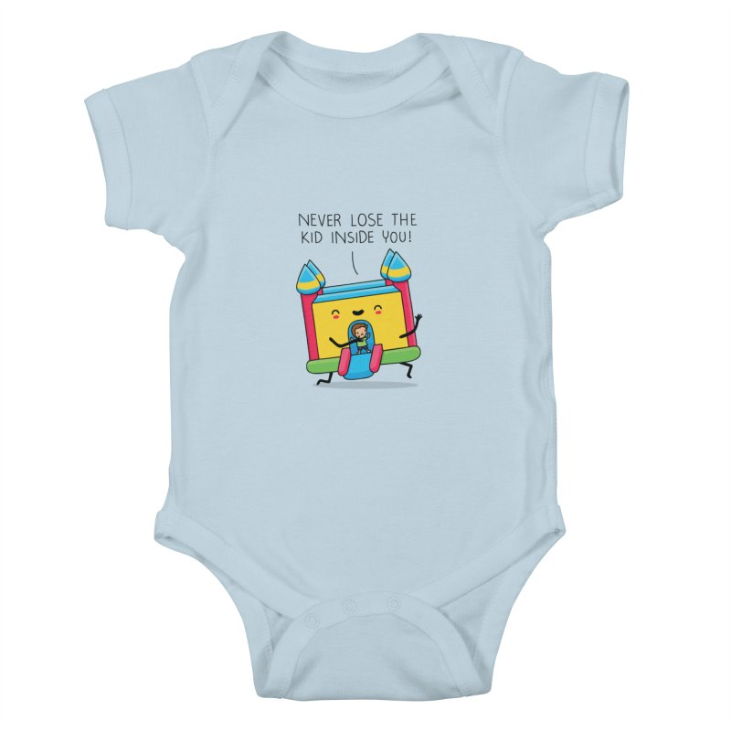 The kid inside you Kids Baby Bodysuit by wawawiwadesign's Artist Shop