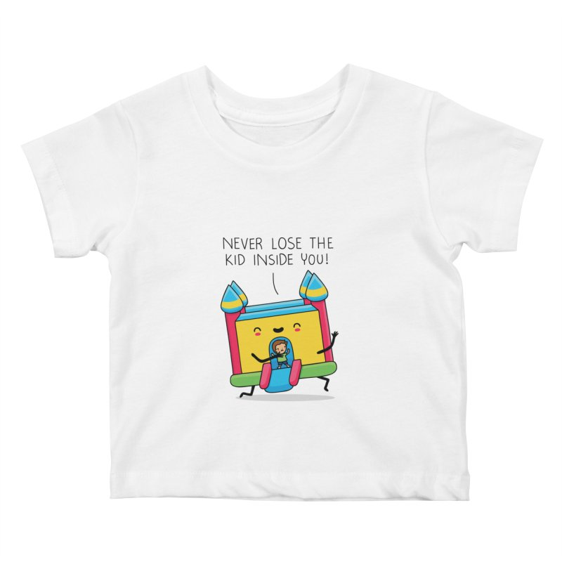 The kid inside you Kids Baby T-Shirt by wawawiwadesign's Artist Shop