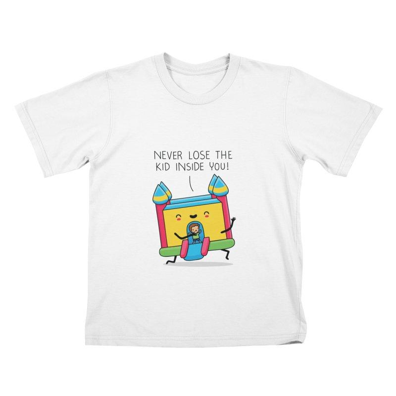 The kid inside you Kids T-shirt by wawawiwadesign's Artist Shop