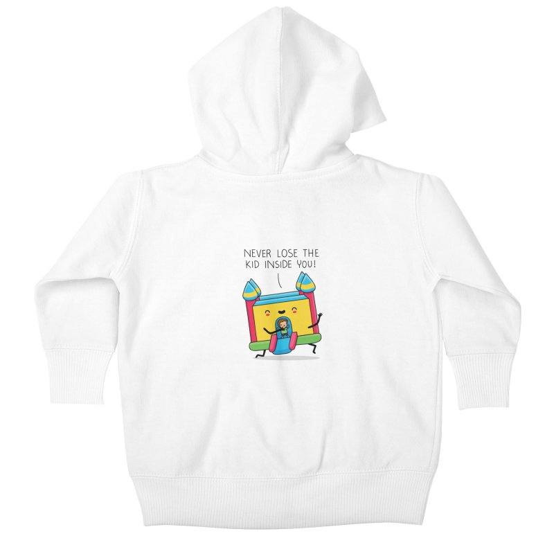 The kid inside you Kids Baby Zip-Up Hoody by wawawiwadesign's Artist Shop