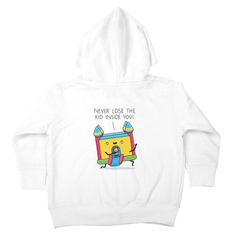 The kid inside you Kids Toddler Zip-Up Hoody by wawawiwadesign's Artist Shop