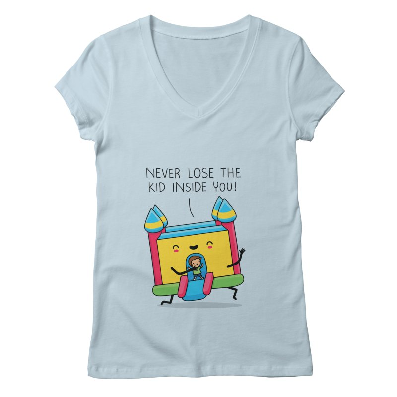 The kid inside you Women's V-Neck by wawawiwadesign's Artist Shop