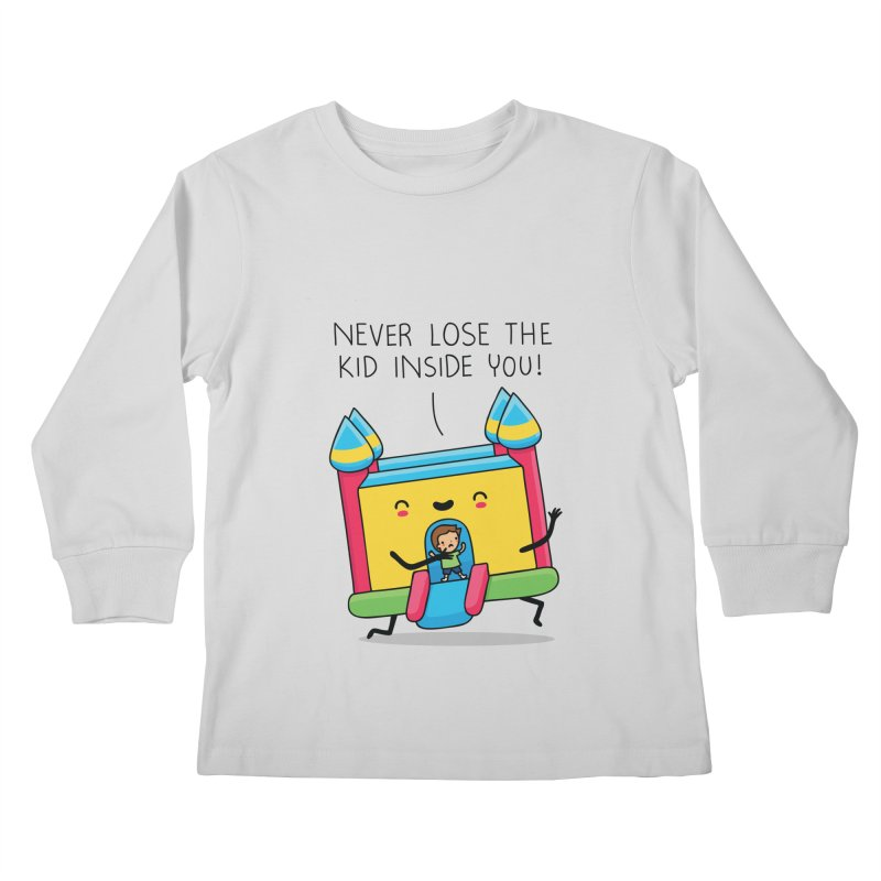 The kid inside you Kids Longsleeve T-Shirt by wawawiwadesign's Artist Shop