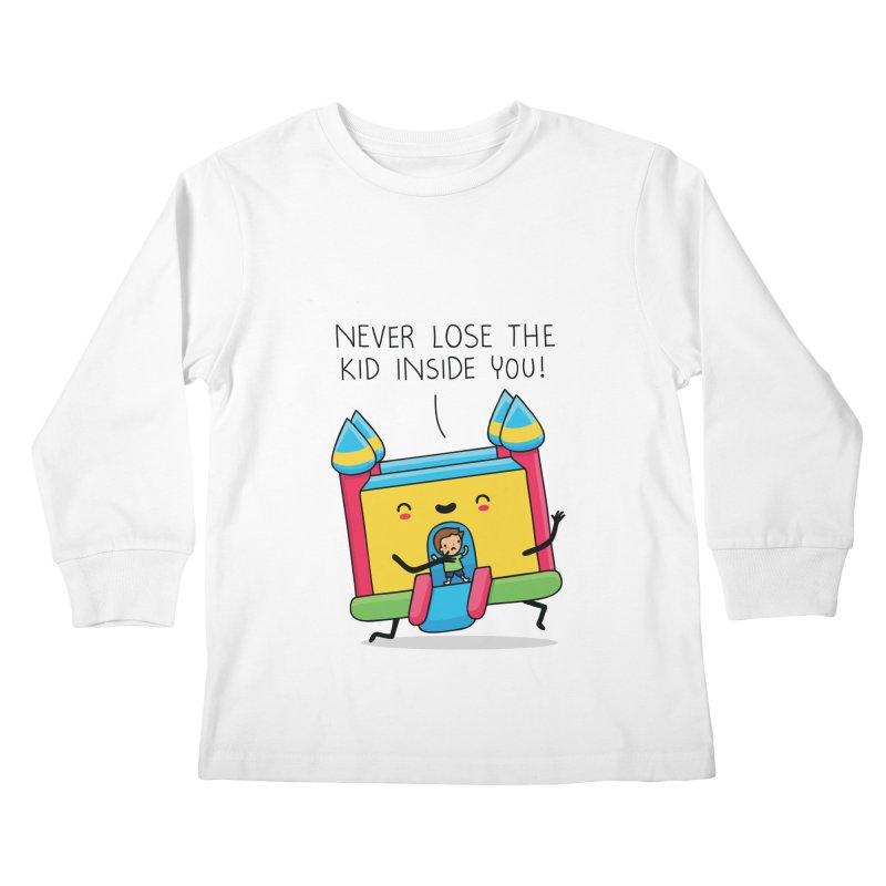The kid inside you Kids Longsleeve T-Shirt by wawawiwadesign's Artist Shop