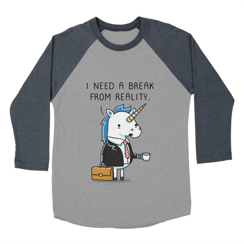A break from reality Men's Baseball Triblend T-Shirt by wawawiwadesign's Artist Shop