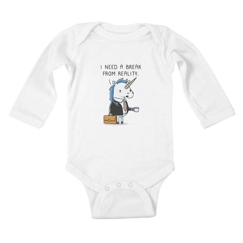 A break from reality Kids Baby Longsleeve Bodysuit by wawawiwadesign's Artist Shop