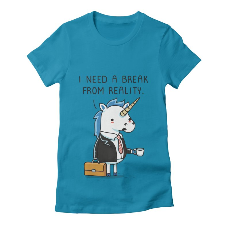 A break from reality Women's Fitted T-Shirt by wawawiwadesign's Artist Shop