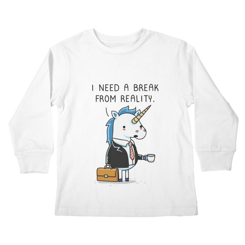 A break from reality Kids Longsleeve T-Shirt by wawawiwadesign's Artist Shop