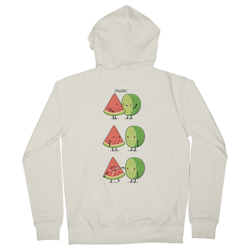 The first kiss Men's Zip-Up Hoody by wawawiwadesign's Artist Shop