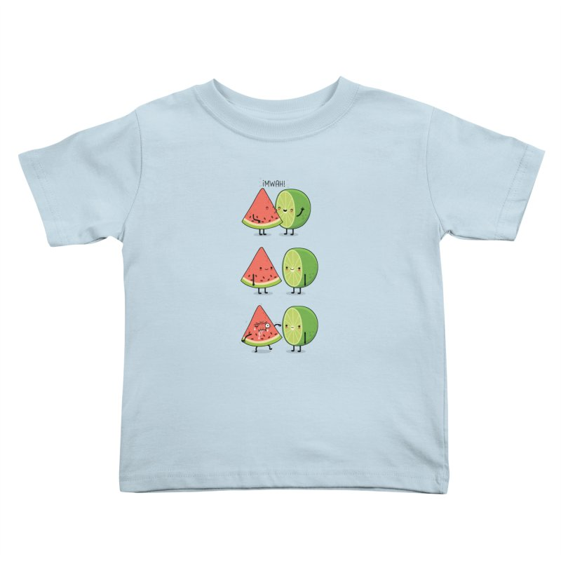 The first kiss Kids Toddler T-Shirt by wawawiwadesign's Artist Shop