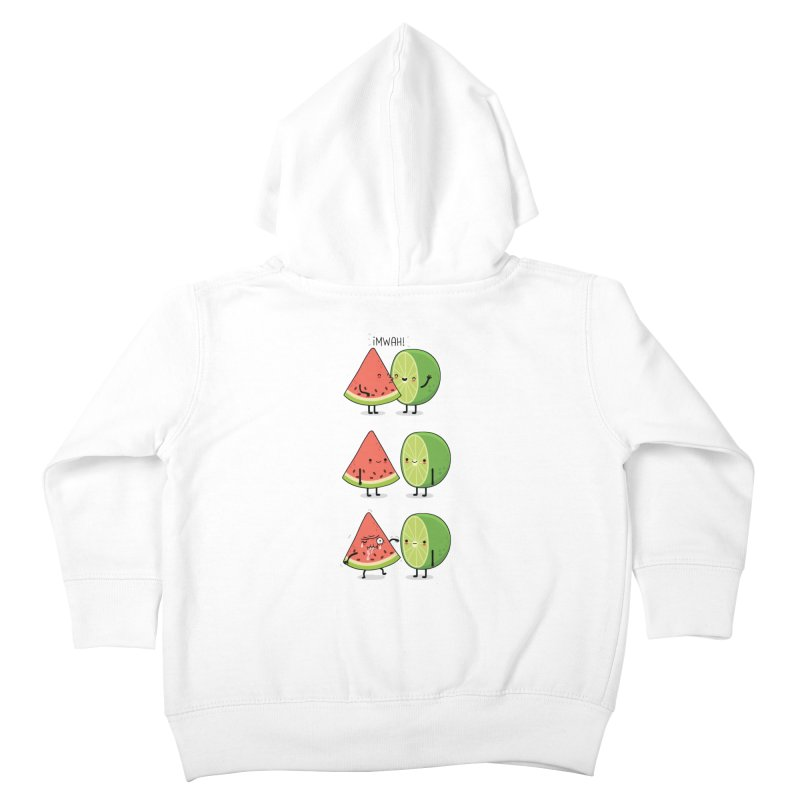 The first kiss Kids Toddler Zip-Up Hoody by wawawiwadesign's Artist Shop