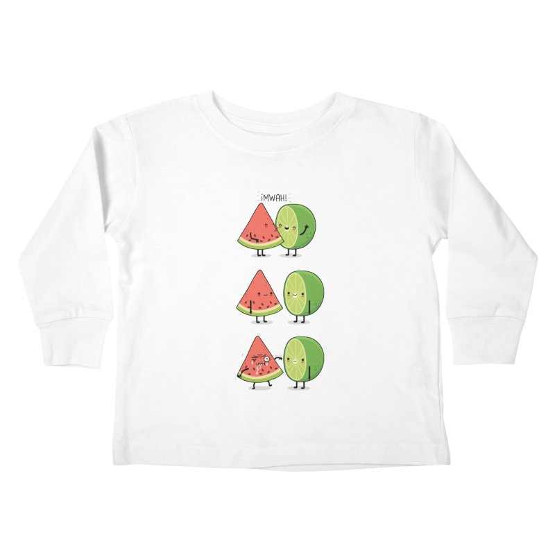 The first kiss Kids Toddler Longsleeve T-Shirt by wawawiwadesign's Artist Shop