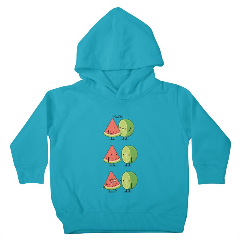 The first kiss Kids Toddler Pullover Hoody by wawawiwadesign's Artist Shop