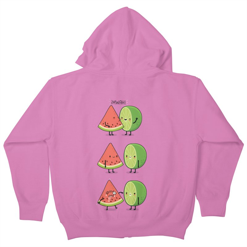 The first kiss Kids Zip-Up Hoody by wawawiwadesign's Artist Shop
