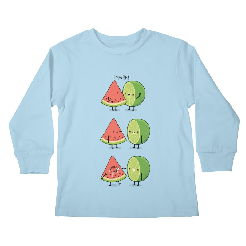 The first kiss Kids Longsleeve T-Shirt by wawawiwadesign's Artist Shop