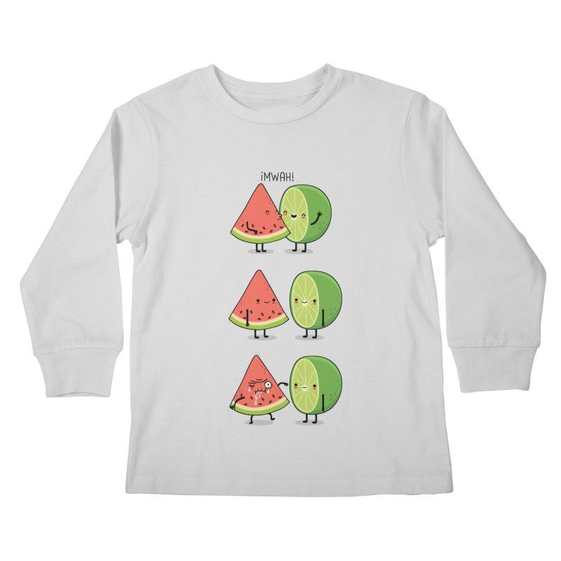 The first kiss Kids Longsleeve T-Shirt by wawawiwadesign's Artist Shop