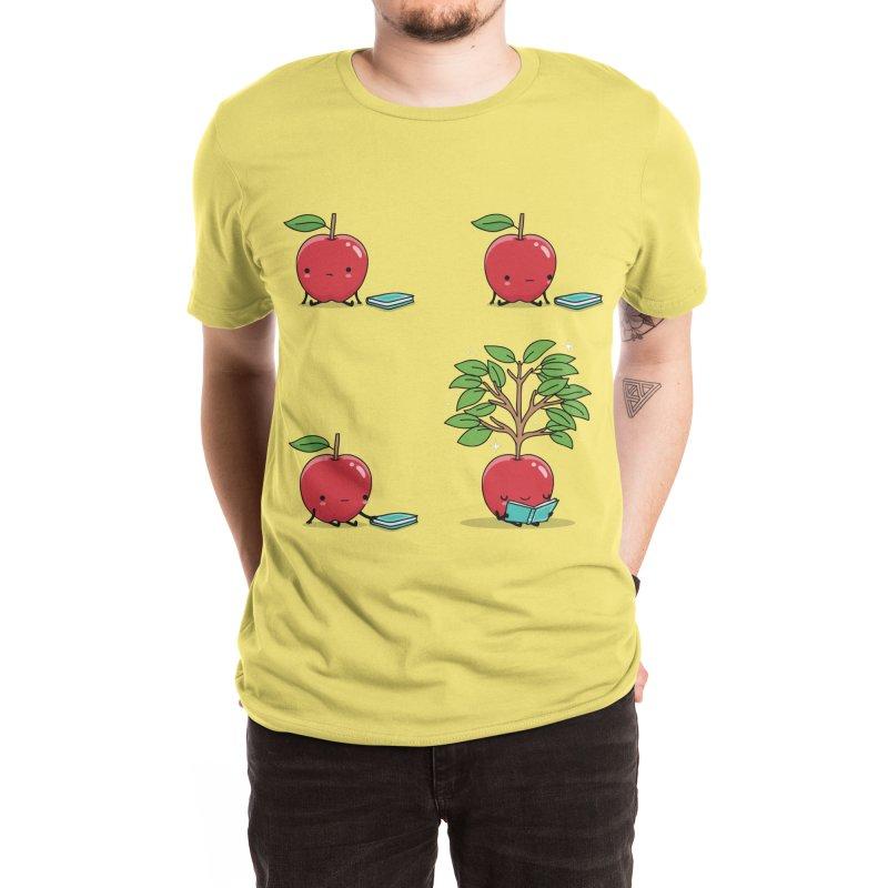 Reading apple Men's T-Shirt by wawawiwadesign's Artist Shop