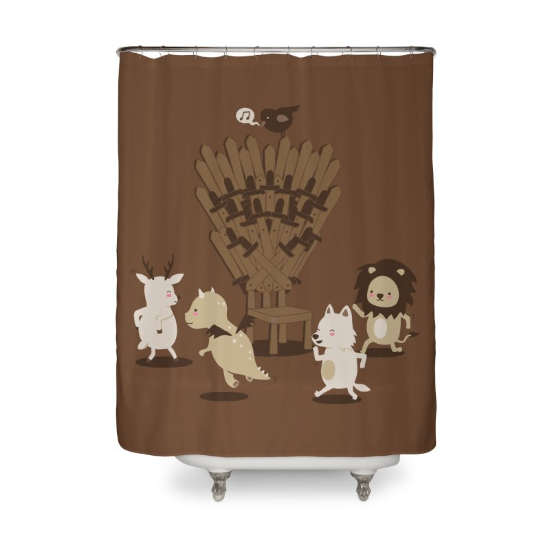 Musical thrones Home Shower Curtain by wawawiwadesign's Artist Shop