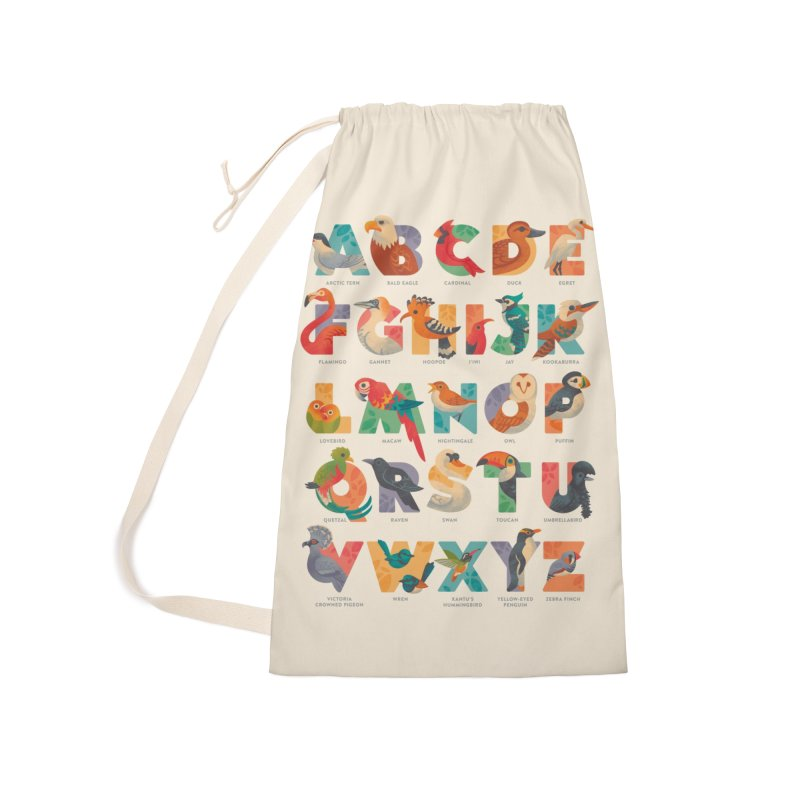 Aerialphabet (labelled) Accessories Laundry Bag Bag by Waynem