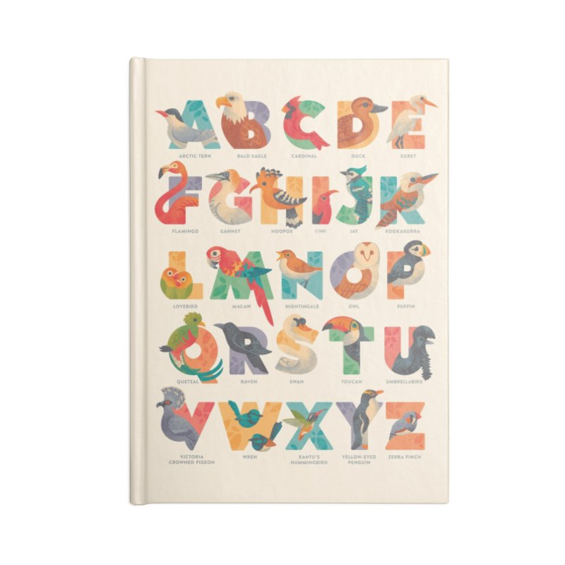 Aerialphabet (labelled) Accessories Lined Journal Notebook by Waynem