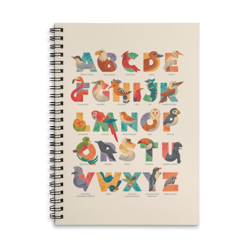 Aerialphabet (labelled) Accessories Lined Spiral Notebook by Waynem
