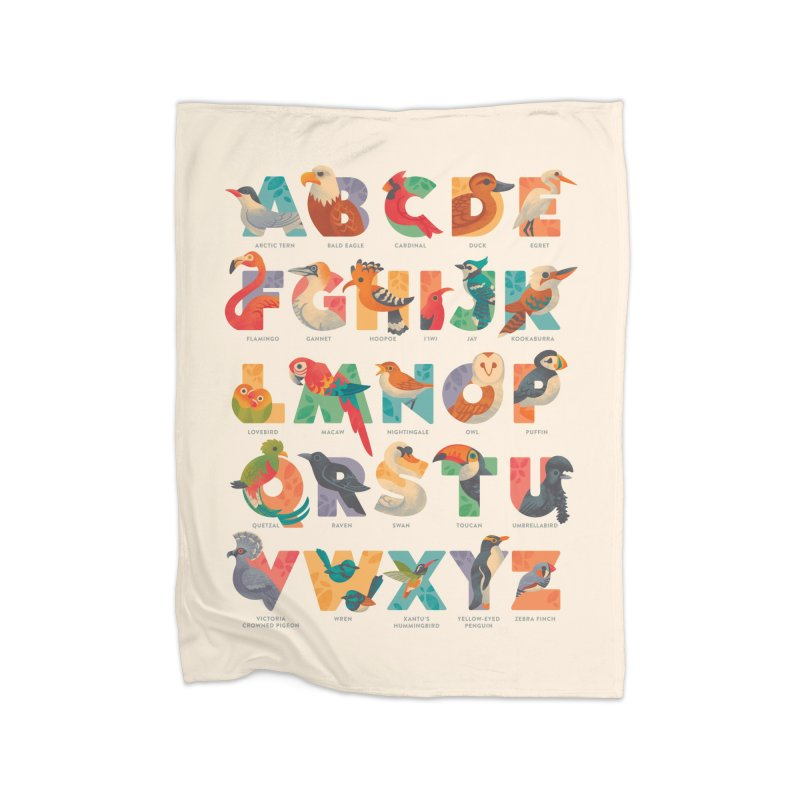 Aerialphabet (labelled) Home Fleece Blanket Blanket by Waynem