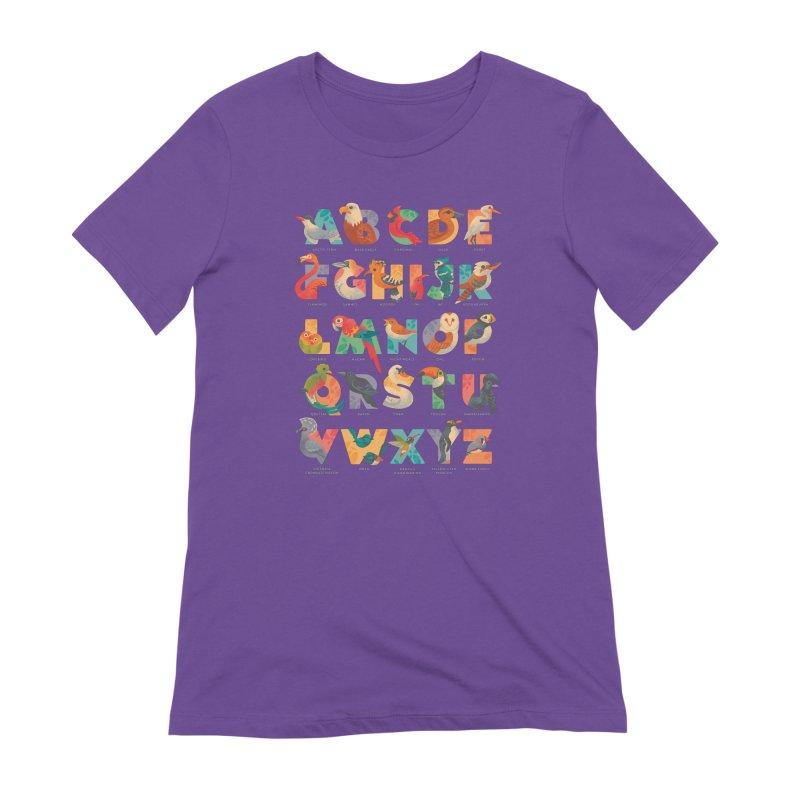 Aerialphabet (labelled) Women's Extra Soft T-Shirt by Waynem