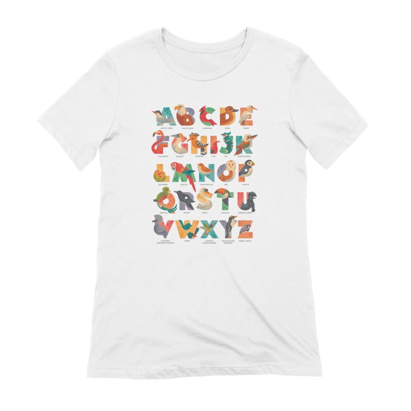 Aerialphabet (labelled) Women's Extra Soft T-Shirt by Waynem