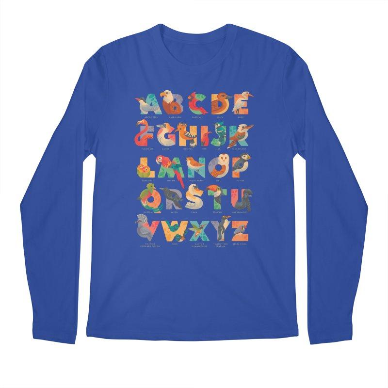 Aerialphabet (labelled) Men's Regular Longsleeve T-Shirt by Waynem